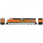 Athearn G83132 HO Scale ES44DC - w/DCC & Sound - Burlington Northern Santa Fe, Patch Repair H2 #7795 Pre-Order