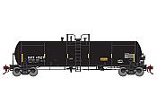 Athearn Genesis G40191 HO - GATC 20,000-Gallon GS Tank - GATX/Black (3)pkg