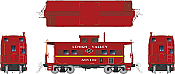 Rapido 144015 - HO Northeastern-style Steel Caboose: Lehigh Valley - Black Diamond Scheme #A95102