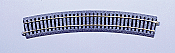 "Kato Unitrack 2-230 HO Scale Curved Sections; 22.5 Degree Radius 26-3/8"" 670mm pkg(4) R670-22.5"
