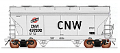 Intermountain 66542-06 N ACF 2-Bay Center-Flow Covered Hopper - Chicago & North Western (gray, black, red, Large Block CNW) #437291