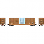 Athearn RND88063 HO Scale 50Ft Waffle HC Plug Door Box Kansas City Southern KCS #113527