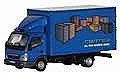 Herpa Models Mitsubishi Fuso Box-Body Delivery Truck - Assembled Canter (blue, brown, green)