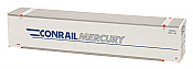 Intermountain A Line 30410-06 HO 48 Ft Smooth-Side Container 2-Pack - Conrail Mercury - CRMU