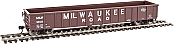 Walthers Mainline 6158 HO 53 Ft Thrall Smooth-Side Gondola -  Milwaukee Road MILW 92423