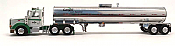 Herpa 400568 HO American Tractor/Trailer Peterbilt 367 Day Cab 3 Axle with 2 Axle Food-Grade Silver Tank Trailer - Cargill