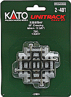 Kato Unitrack 2-401 HO Scale 90 Degree Crossing X 90