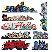 Blair Line 2246 HO Lasercut Graffiti Decals Set 3
