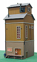 Model Power 647 HO Built-Up Grading Tower - Grain Elevator