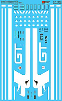 Microscale Decals 871313 HO - Grand Trunk Western GP38AC  Bicentennial 1976+