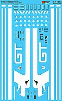 Microscale Decals 871313 HO - Grand Trunk Western GP38AC  Bicentennial 1976+