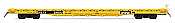 Intermountain 46417-02 HO 60ft Wood Deck Flat Car - HTTX Yellow Trailer Train #90750