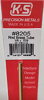 K&S Engineering 8205 All Scale - 1/8 inch OD Round Brass Tube - 0.029inch Thick x 12inch Long