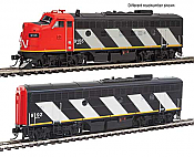 Walthers EMD F7 A/B Canadian National 9159&9195 with Tsunami sound and DCC