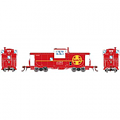 Athearn G78325 - HO Scale ICC Caboose w/lights and DCC/Sound - ATSF CE-11 #999801
