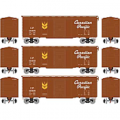 Athearn 73720 HO - RTR 40Ft Youngstown Door Box - CPR/Grain Service #1 (3pkg)