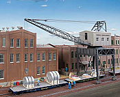 Walthers 4096 HO Cornerstone - Traveling Crane with Brick Street