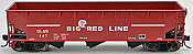 Bowser 42303 HO - RTR 70 Ton Offset Hopper - Big Red Line OL&B #106