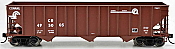 Bowser 42372 - HO RTR 100 Ton 3-Bay Open Hopper - Conrail Quality #495055