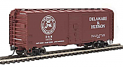 Walthers HO 1319 Mainline 40 Ft Association of American Railroads 1944 Boxcar - Delaware & Hudson #17778