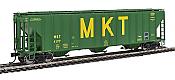 Walthers Proto 106164 - HO 55Ft Evans 4780 Covered Hopper - Missouri Kansas Texas (MKT) #4177