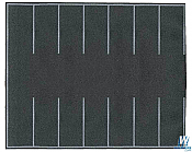 Walthers SceneMaster 1260 HO - Flexible Self Adhesive Paved Roadway Parking Lot