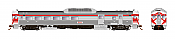 Rapido Trains 16244 - HO Budd RDC-3 - PH2 - DC - Canadian National #D303