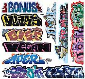 Blair Line 2262 HO Scale - Mega Set Modern Tagger Graffiti Decals Set #13 pkg(10)