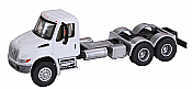 Walthers SceneMaster - International 4300 Dual-Axle Semi Tractor - Assembled- White Cab, Black Chassis