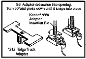 Kadee 212 Coupler Conversion Kit Talgo Truck Adaptor - 24 per package