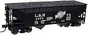 Atlas Trainman 20 001 495 2-Bay Offset Side Hopper w/Flat End Litchfield & Madison #1073