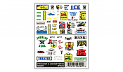 Woodland Scenics 554 HO Scale - Dry Transfer Signs - Product & Advertising Signs