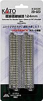 "Kato Unitrack 20-023 N Scale Concrete Tie Double Track Straight 4-7/8"" 124mm 2pcs WS124PC"