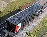Intermountain Railway Motrak Models 81651 HO Freight Car Loads - Bathtub Gondola - Coal