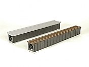 Micro Engineering HO Scale 75505 Deck Girder Bridge 85 Ft Open Deck