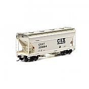 Athearn RTR 93986 - HO ACF 2970 Covered Hopper - CSX/Tan (3pk)
