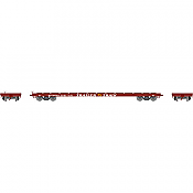 Athearn RTR 92692 - HO 60 Ft Flat Car - Trailer Train #97076