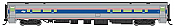 WalthersMainline 31052 HO Scale - RTR 85 ft Horizon Food Service Car - Amtrak (Phase VI) (Travelmark)