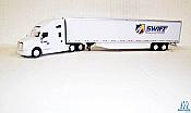 Trucks n Stuff TNS138 HO Kenworth T680 Sleeper-Cab Tractor with 53Ft Dry Van Trailer-Assembled Swift