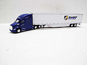Trucks n Stuff TNS139 - HO Kenworth T680 Sleeper-Cab Tractor - 53ft Dry Van Trailer - Swift