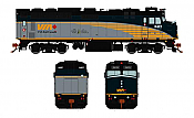 Rapido Trains 582504 - N VIA Rebuilt F40PH-2D - DCC/Sound - VIA Rail Canada #6437