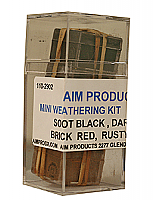 A I M Products 2903 Mini Weathering Powder Set C - 1/4oz Each