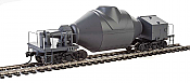 Walthers Proto 107900 HO Scale - Hot Metal Bottle Car - Gray with Decal Numbers (Undecorated/Unlettered) - pkg(2)