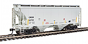 Walthers 7532 HO Scale - 39Ft Trinity 3281 2-Bay Covered Hopper - Chicago Freight Car Leasing CRDX #21751