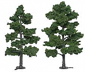 """Woodland Scenics 1516 Ready-Made """"Realistic Trees"""" - Deciduous - 6 to 7"""" 15.2 to 17.8cm pkg(2) - Medium Green"""