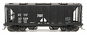 Intermountain 48609-18 HO 1958 Cu Ft 2 Bay Covered  Hopper- Open Sides  Frisco #83641