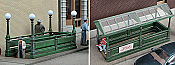 Walther's Cornerstone Subway Entrance - Kit (Plastic) Builds 2 Complete Models