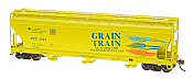 Intermountain Railway 47092-15 HO ACF 4650 Cubic Foot 3-Bay Hopper - Grain Train PCC #1004