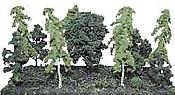 "Heki Scenery 305 Assorted Trees -- 2-1/2 to 5"" 6.4 to 12.7cm pkg(12"