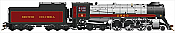 Rapido Trains 600091 HO Scale Royal Hudson British Columbia #2860 Class H1e - DC Silent  Pre-Order Coming in 2017
